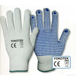 Blue Dotty Gloves (Pack-12 Pairs)
