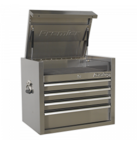 Topchest 4 Drawer 675mm Stainless Steel Heavy-Duty