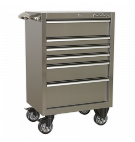 Rollcab 6 Drawer 675mm Stainless Steel Heavy-Duty