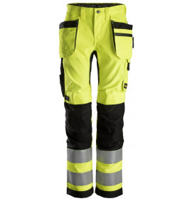 Snickers 6730 AllroundWork, Women's High-Vis Trousers + Holster Pockets CL2