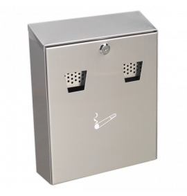 Cigarette Bin Wall Mounting Stainless Steel
