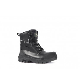 Rock Fall Shale Black High Leg Safety Boot