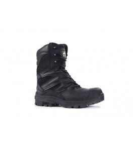 Rock Fall Titanium Black High Leg Safety Boot