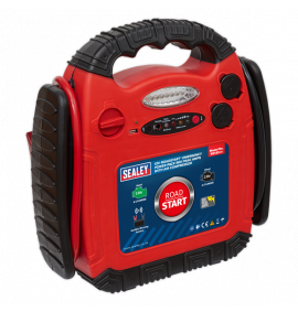 RoadStart® Emergency Jump Starter with Air Compressor 12V (900 Peak Amps)