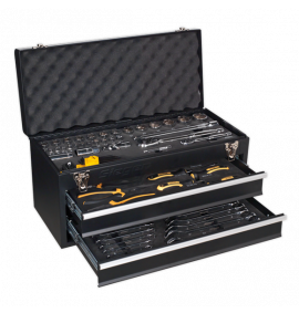 Portable Tool Chest 2 Drawer with 90pc Tool Kit