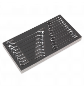 Tool Tray with Combination & Deep Offset Spanner Set 20pc