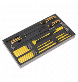 Tool Tray with Prybar, Hammer & Punch Set 23pc