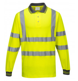 Portwest Long Sleeved Cotton Comfort Polo