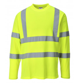 Portwest Hi-Vis Long Sleeve T-Shirt - GO/RT