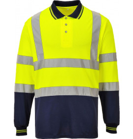 Portwest Two-Tone Long Sleeved Polo