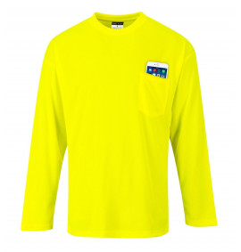 Portwest Day-Vis Pocket Long Sleeve T-Shirt