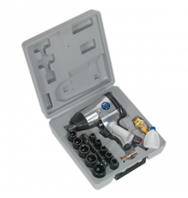 "Air Impact Wrench Kit with Sockets (1/2""Sq Drive)"