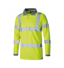 Dickies High Visibility Long Sleeve Polo Shirt