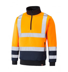 Dickies Hi-Vis Quarter Zip Sweatshirt