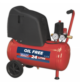 Oil Free Belt Drive Compressor 24ltr 1.5hp