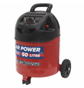 Compressor 50ltr Belt Drive 1.5hp Oil Free