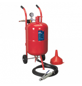 Shot Blaster with Water Trap & Wheels (37 Litres)
