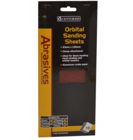 Assorted Orbital Sanding Sheets (small) (Pack of 10)