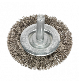 Flat Wire Brush Stainless Steel with 6mm Shaft