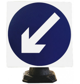 Keep Left Cone Sign