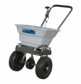 Stainless Steel Broadcast Salt Spreader 37kg Walk Behind