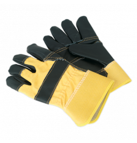 Rigger's Gloves Hide Palm Pair