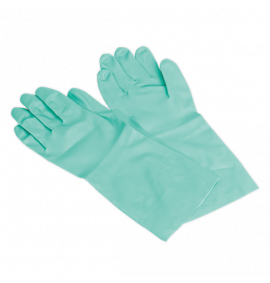 Nitrile Gauntlets for use with Thinners 355mm Cuffed Pair