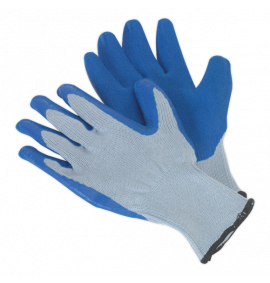Latex Knitted Wrist Gloves - Large