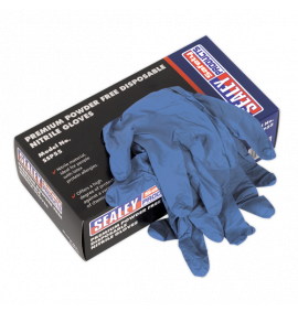 Premium Powder Free Disposable Nitrile Gloves - Pack of 100