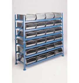 Stackable Bin Rack for Steel Bins
