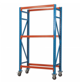 Two Level Mobile Tyre Rack 200kg Capacity Per Level