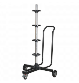 Wheel Storage Trolley 100kg Capacity with Handle