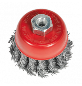 Twist Knot Wire Cup Brush Ø65mm (M10 x 1.25mm)