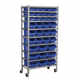 Mobile Bin Storage System 36 Bins