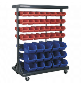 Mobile Bin Storage System with 94 Bins