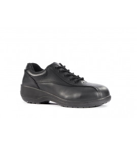 Vixen Amber Black  Lace Up Ladies Safety Shoe