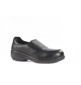 Vixen Topaz Black Slip on Ladies Safety Shoe