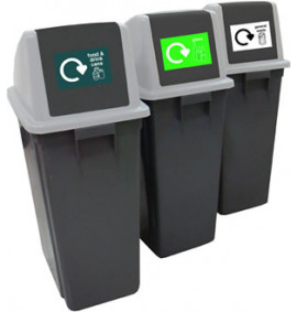 60 Litre Recycling Bins (Set of 3) - RCY63Z