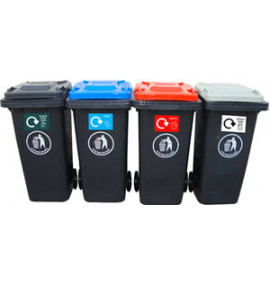 Recycling Centre Wheeled Bins