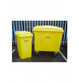 Clinical Waste Container - 4 Wheeled