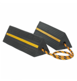 Heavy-Duty Rubber Wheel Chocks 8kg - Pair