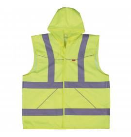 Flexitog Waterproof Hooded Hi-Viz Waistcoat